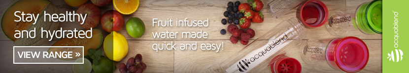 Stay healthy and hydrated with Acquablend. Fruit infused water made easy. View the range.