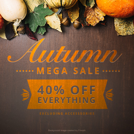 Autumn Mega Sale. 40% OFF everything excluding accessories!