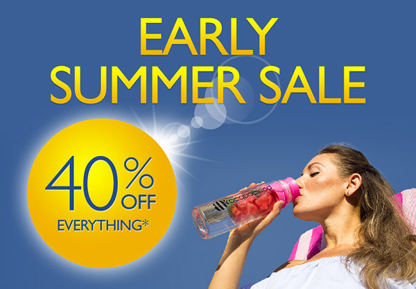 Early Summer sale. Now with 40% OFF everything!